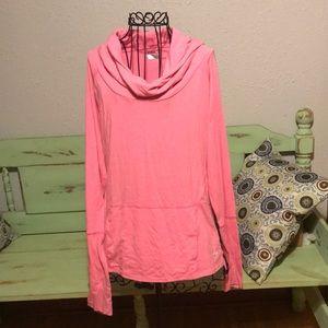Fila pink hooded shirt.